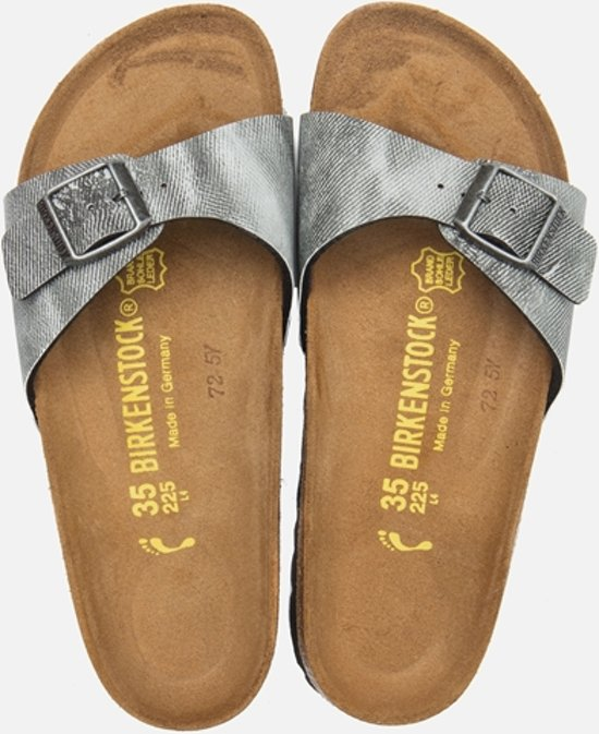 | Birkenstock Madrid Slipper Maat 37 Dames Grijs