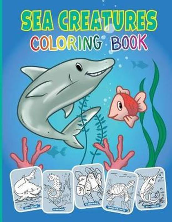 Image of: Octopus Sea Creatures And Ocean Animals Coloring Book For Kids Bolcom Bolcom Sea Creatures And Ocean Animals Coloring Book For Kids