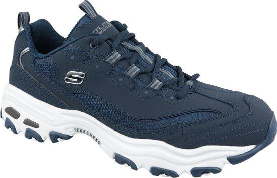 Skechers D'Lites 52675 NVY, Mannen, Blauw, Sneakers maat: 45 EU