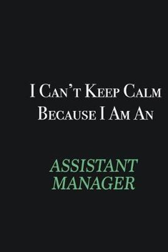 I cant Keep Calm because I am an Assistant Manager: Writing careers journals and notebook. A way towards enhancement