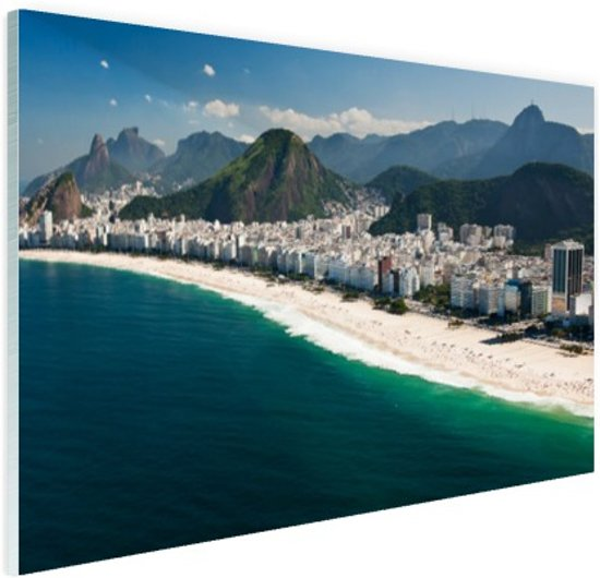 Copacabana strand Rio de Janeiro Glas 30x20 cm - Foto print op Glas (Plexiglas wanddecoratie)