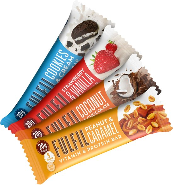 Fulfil Nutrition Vitamin & Protein Bars - Eiwitreep - 1 box (12 eiwitrepen) - Peanut & Caramel