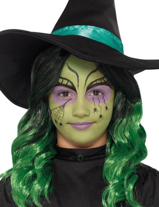 Halloween Schmink Kind.Kids Witch Halloween Make Up Kit Aqua 3 Colours