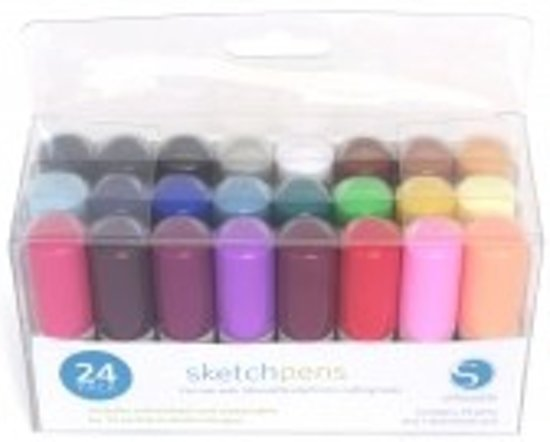 Sketch Pen Starter Kit - 24 stuks (Silhouette Cameo of Curio)