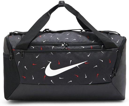 Nike  Brsla S Duff  9.0 Aop 2 Unisex Sporttas - Black/Black/(White)