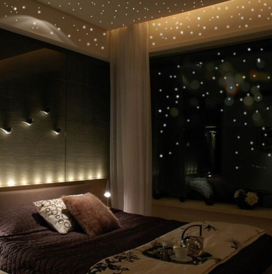 Set van 407 Glow In The Dark | Ronde Stippen  | Decoratie Muur Stickers