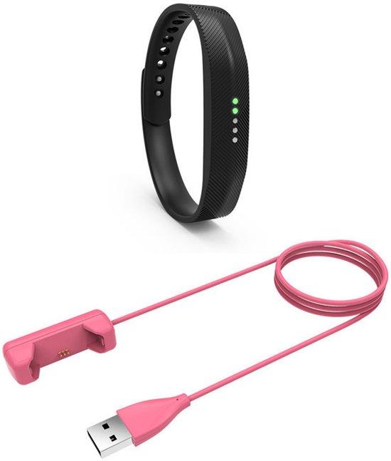 USB-lader adapter voor Fitbit Flex 2 - Roze