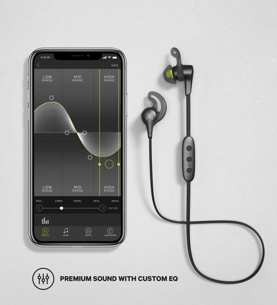 Jaybird X4 - Draadloze Bluetooth Sport oordopjes - Grijs