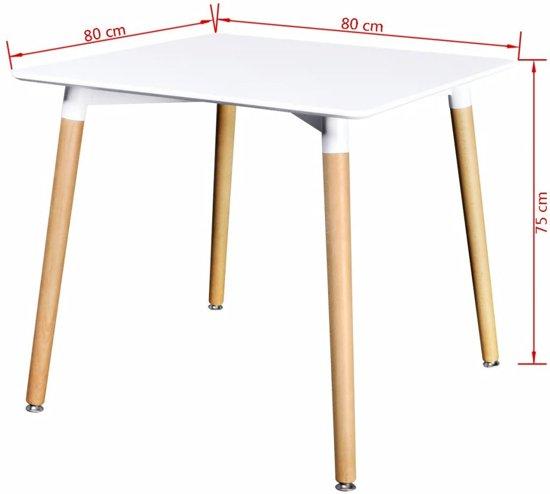 Vierkante Eettafel 80 X 80.Vidaxl Eettafel 80x80 Cm Wit