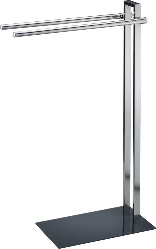 Rek met verchroomd frame en glazen legplanken groot van pureday kopen laagste prijs - Metaal schorsing en glazen ...