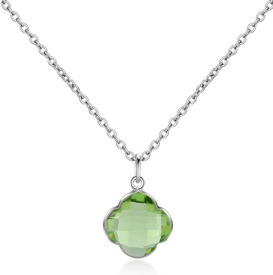 CAPUCINE Necklace silver/Green Amethyst