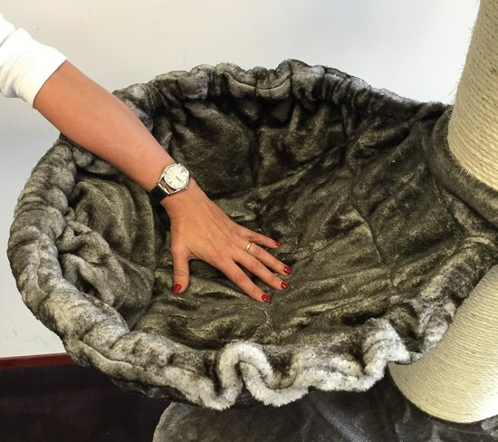 Krabpaal Royalty Taupe Grijs PLUS  voor grote katten van RHRQuality