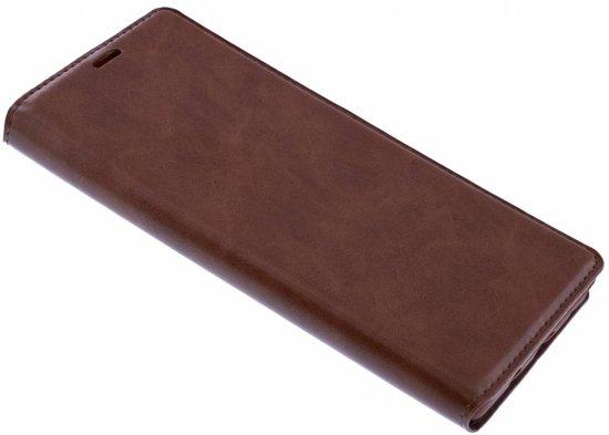 Luxe Bruin TPU / PU Leder Flip Cover met Magneetsluiting voor iPhone Xr