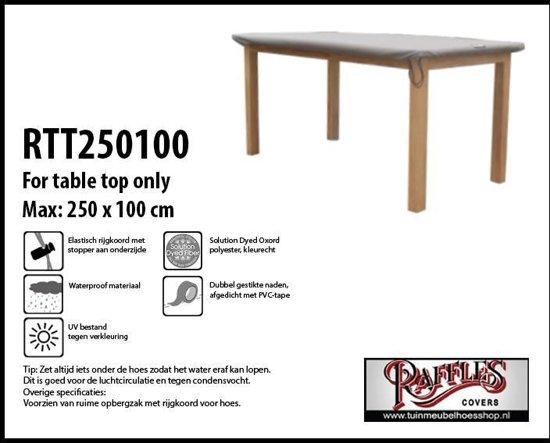 RTT250100 Beschermhoes tafelblad rechthoekige tafel 250 x 100 cm taupe