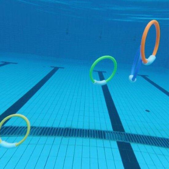 Duikringen set - Duik ringen - Ringen voor het zwembad - Duikspeeltjes - Set 4 stuks
