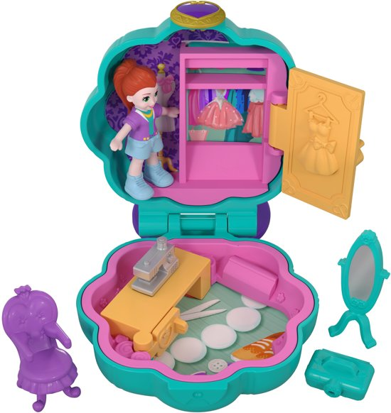 Polly Pocket Tiny Pocket Places  Lila's Kledingkast - Speelfigurenset