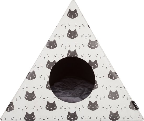 District 70 TRIANGLE Kattenhuis - Créme - 60 x 60 x 53 cm