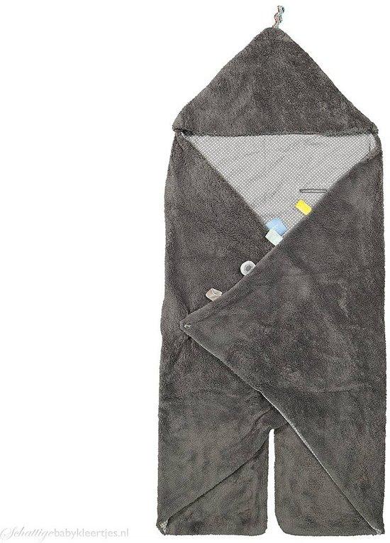 Snoozebaby - wikkeldeken Trendy Wrapping - Storm Grey - 80x80