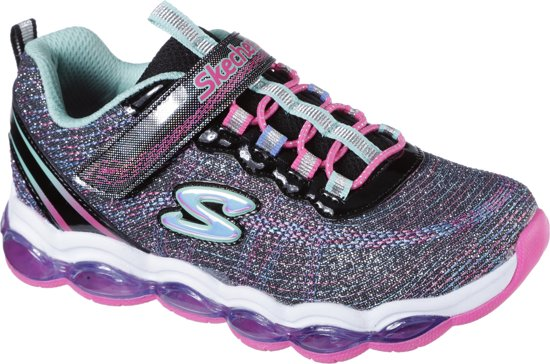 8df32187ae5b66 bol.com | Skechers Glimmer Lights Sneakers Meisjes - Black Multi ...