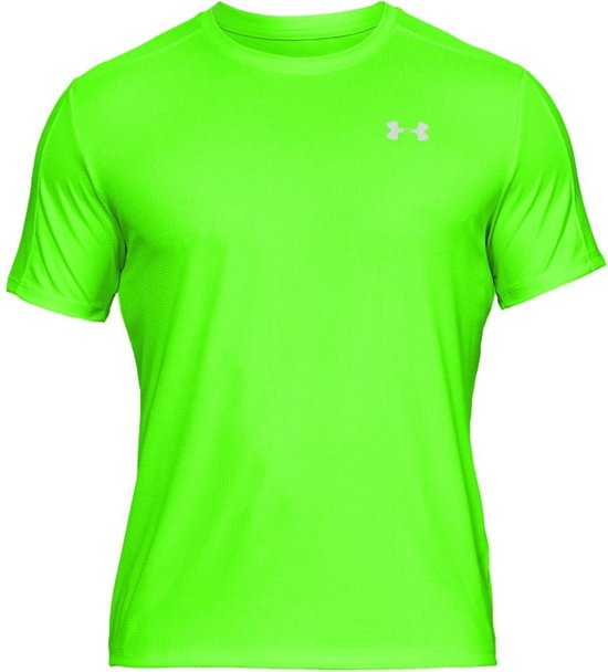 Under Armour Speed Stride Shortsleeve Tee 1326564-722, Mannen, Groen, T-shirt maat: M EU