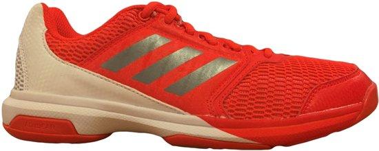Adidas Heren Handbalschoen/Indoor - Rood/Wit - Maat 47