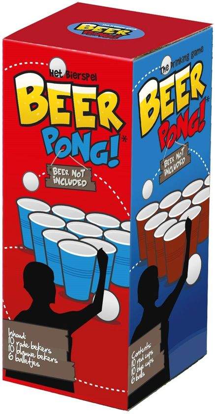 Clown Games Beerpong Drinkspel 27-delig