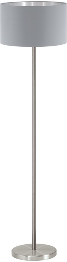 EGLO Maserlo - Vloerlamp - 1 Lichts - ø380 mm. - Nikkel-Mat - Grijs - Zilver
