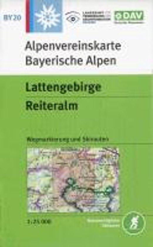DAV Alpenvereinskarte Bayerische Alpen 20 Lattengebirge - Reiteralm, Ramsau 1 : 25 000