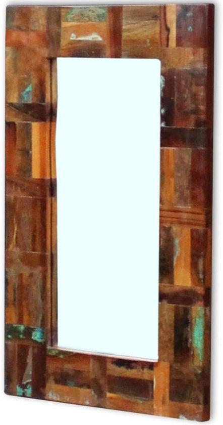 vidaxl spiegel massief gerecycled hout 80x50cm. Black Bedroom Furniture Sets. Home Design Ideas