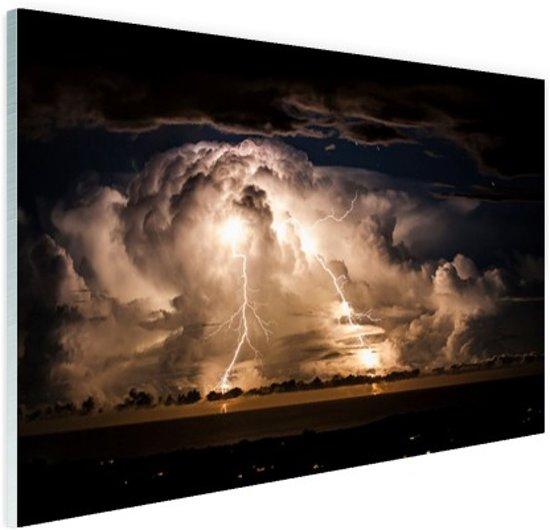 FotoCadeau.nl - Stormachtige nacht over Byron Bay Glas 30x20 cm - Foto print op Glas (Plexiglas wanddecoratie)