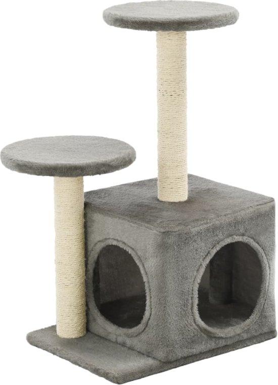 vidaXL Kattenkrabpaal met sisal krabpalen 60 cm grijs