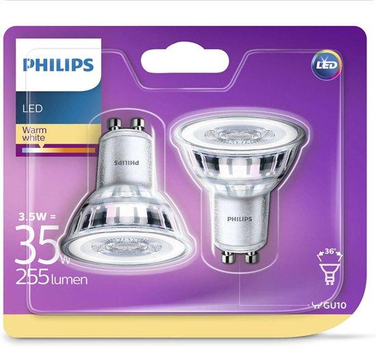 LED lamp GU10 3,5W 255Lm reflector 2 stuks
