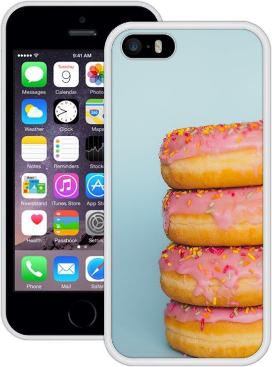 Case Creatives Telefoonhoesje Donuts - iPhone 5 5s SE  Wit - Handgemaakt