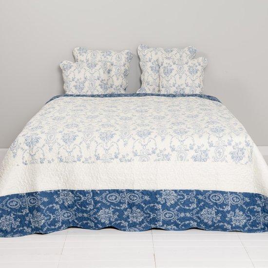 Q136.059 - Bedsprei - 140 x 220 cm - synthetisch - blauw