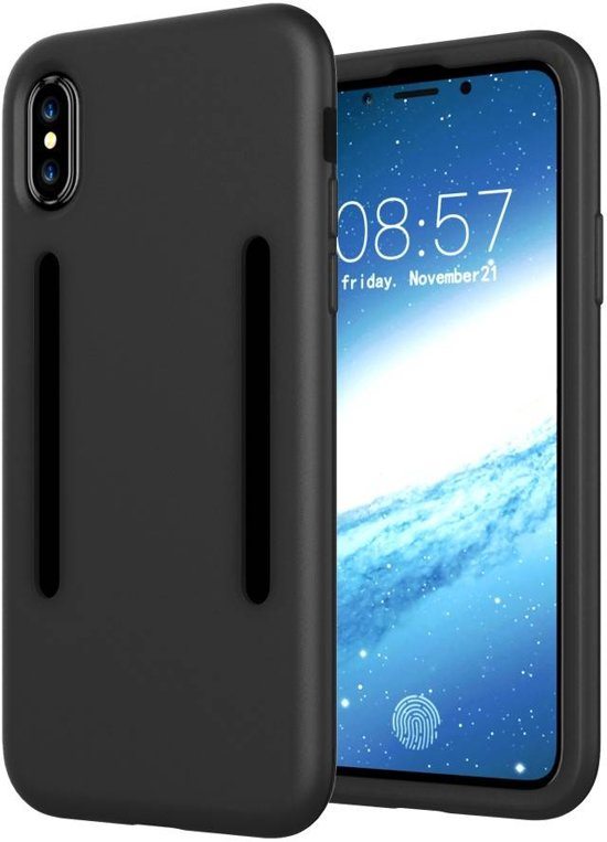 GSMWise - Apple iPhone X - Stevig Hybrid Beschermhoesje Back Case Shockproof - Zwart