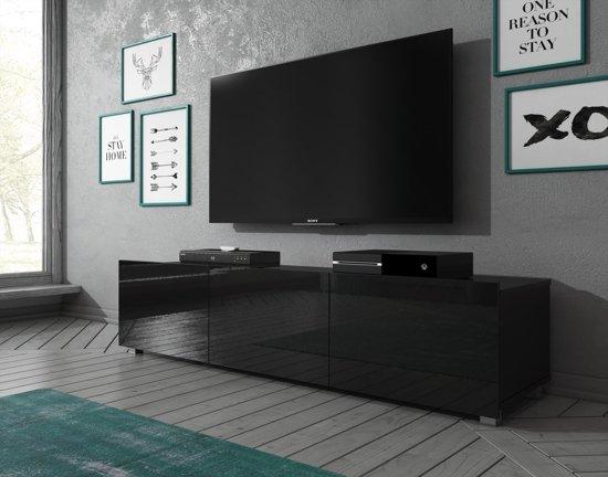 Meubella Tv Meubel Calgary Zwart 150 Cm Staand