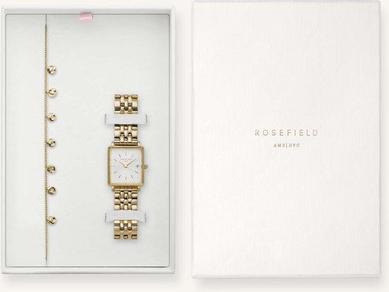 Rosefield The Boxy Xs Gift Set Dames Horloge - Goud - BMWLBG-X241