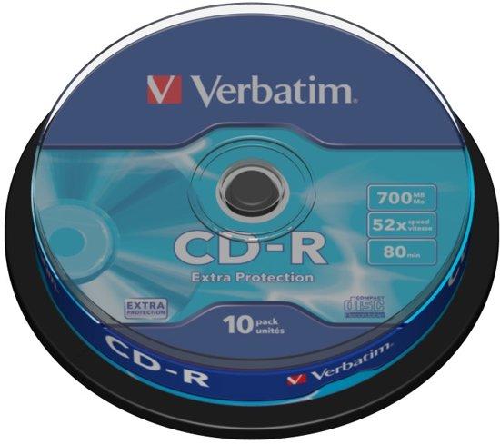 Verbatim 43437 CD-R Extra Protection Schijven - 10 Stuks / Spindel