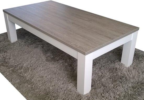 Tafel Grijs Eiken : Bol.com salontafel milaan grijs eiken wit onderstel 70 x 135 cm