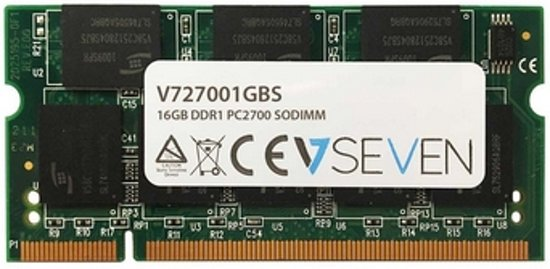 V7 V727001GBS geheugenmodule 1 GB DDR 333 MHz