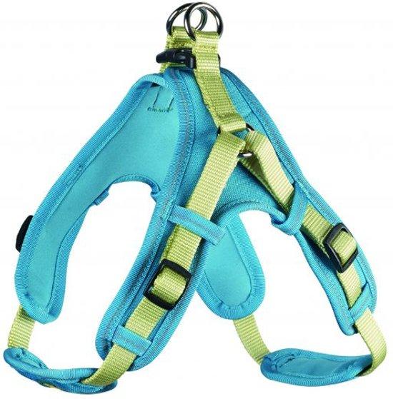 Hunter tuig voor hond neopreen vario quick groen / turquoise 45-55 cmx15 mm