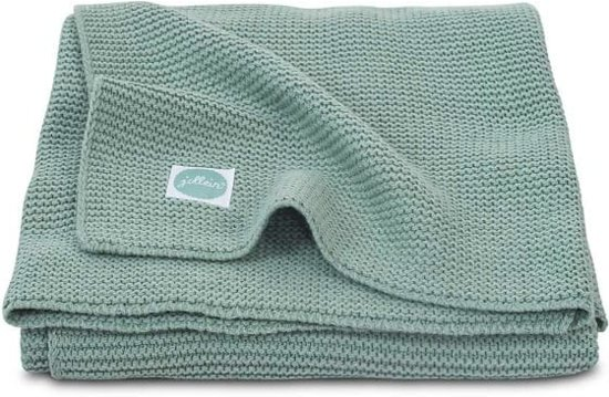 Jollein Basic knit Deken 75x100cm forest green