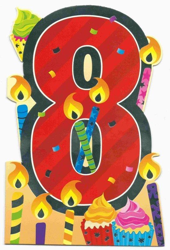 8 jaar bol.| Verjaardagskaart 8 Jaar 8 jaar