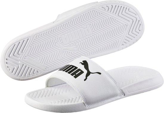 Black Puma Slippers White 43 puma Maat Popcat Unisex rgXqwnfg