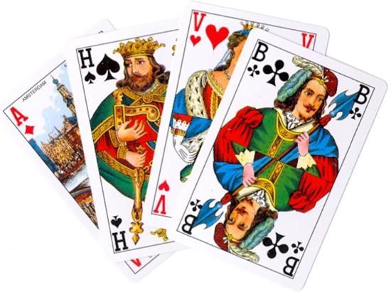 Afbeelding van het spel 10x Speelkaarten black horse