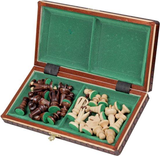 Sunrise Royal - Luxe schaakspel schaakbord 30cm. (Hout)