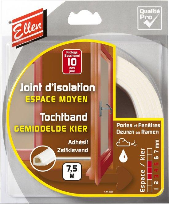 Ellen Tochtband P-Profiel Wit 10 x 5 7.5M