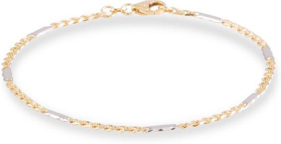 schakel armband goud