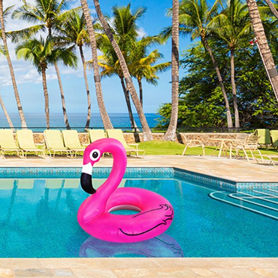 Roze Flamingo Zwemband  - Pool Float Pink Flamingo  - Opblaasband Ø 120 cm.