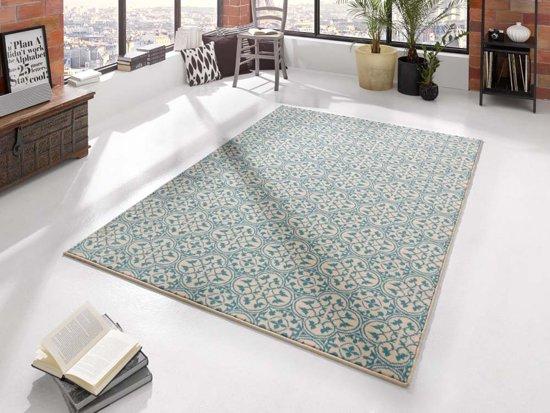 Vloerkleed  pattern 200x290cm blauw, creme Hanse Home